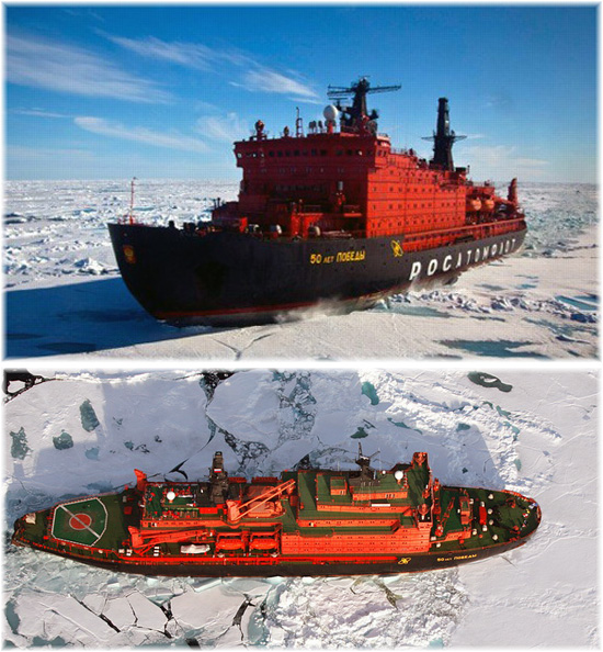 The Russian icebreaker 50 Years of Victory