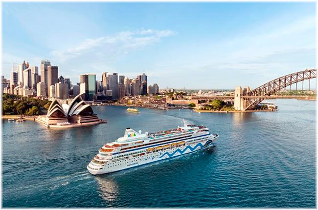 AIDAaura at Sydney