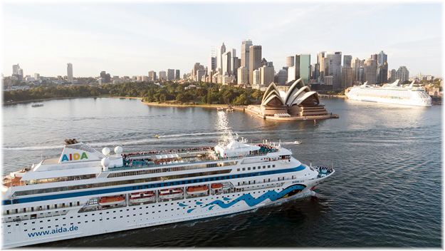 AIDAcara at Sydney on December 19, 2017  (Photo courtesy AIDA Cruises)