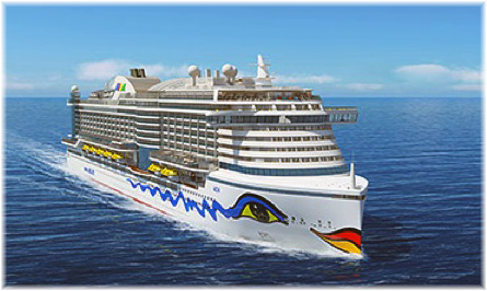 The new Aida Prima will enter service this September and her as yet unnamed sister ship six months later