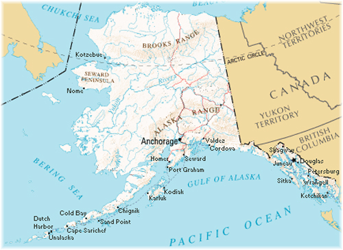 Alaska Ports of call (Courtesy Wikipedia)