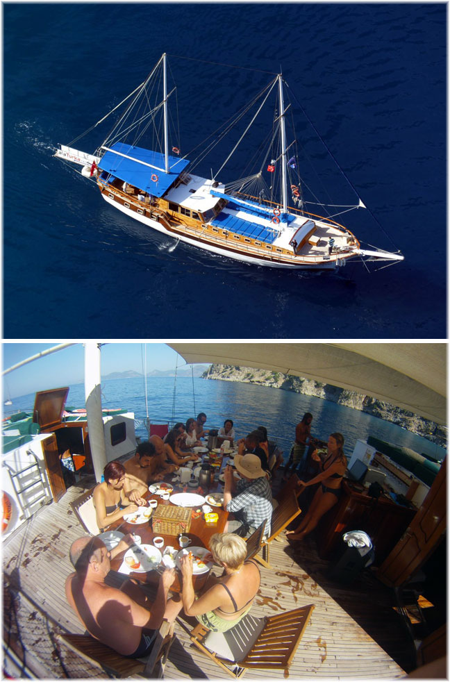 Alaturka Yachting and Cruises is the specialist in cabin cruises and private charters covering the routes from Fethiye to Olympos and return, Marmaris, Bodrum, Antalya and the nearby Greek Islands