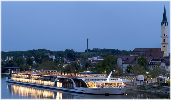 AmaWaterways' AmaMagna at Vilshofen an der Donau, Germany (Courtesy AmaWaterways)