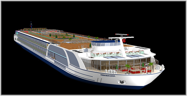 AmaWaterways' AmaMagna (Rendering, courtesy AmaWaterways)