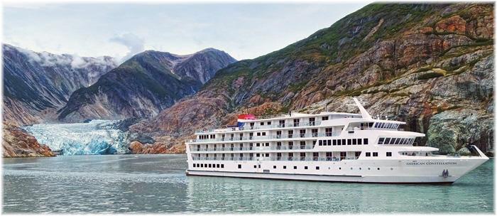 American Cruise Lines' 175-passenger, American Constellation in Alaska