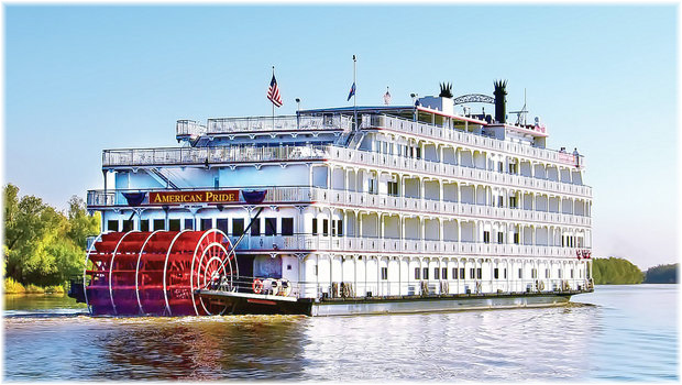 American Cruise Lines' paddlewheeler, American Pride (Courtesy American Cruise Lines)