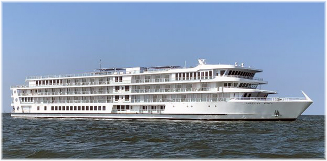 American Song: American Cruise Lines' first of a new class of 5 modern riverboats