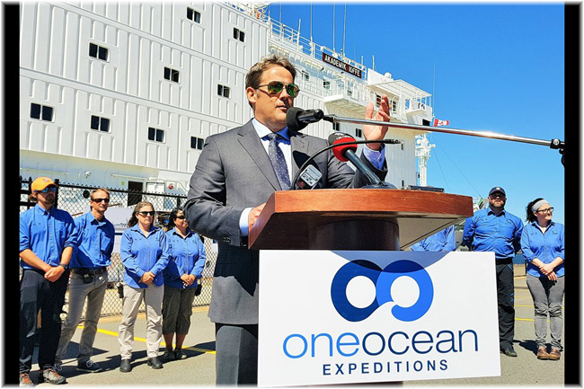 Andrew Prossin One Ocean ceo at Sydney NS, July 31, 2017 (Copyright Tom Ayers Local Xpress)