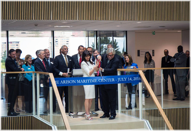 July 14, 2016: the official opening of the Arison Maritime Center in Almere by Micky Arison (Courtesy Carnival Corp & plc)