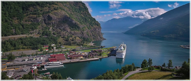 Flåm, southwestern Norway - Aurlandsfjord