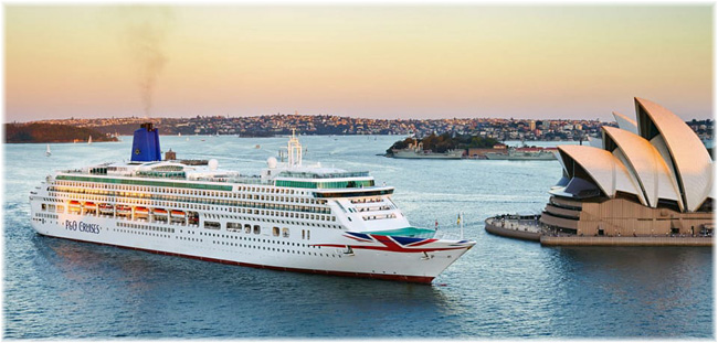 Aurora at Sydney - P&O Cruises