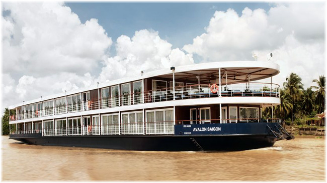 The 36-passenger Avalon Saigon (Photo: Avalon Waterways)