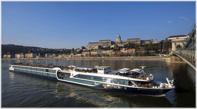 The 166-passenger Avalon Envision  in Budapest, Hungary (Photo: Avalon Waterways)