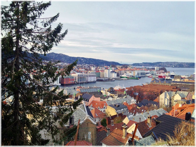 Bergen view in winter (Photo by Rita de Lange, Fjord Travel Norway)
