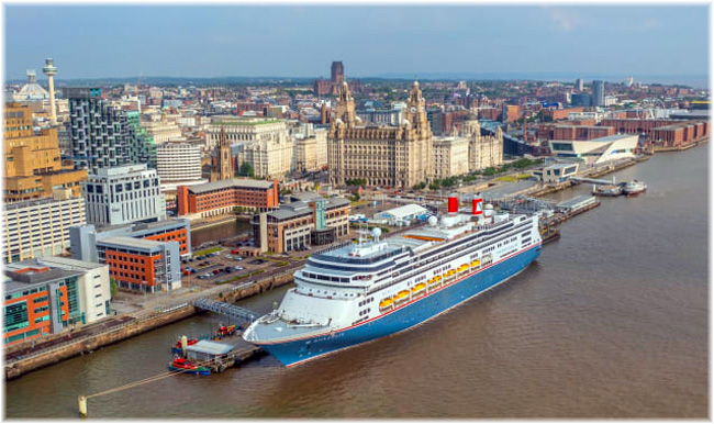 Fred. Olsen Cruise Lines' Borealis at Liverpool (Courtesy Fred. Olsen Cruise Lines - July 2021)