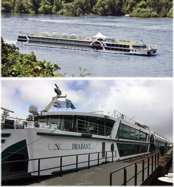 The 156-guest river cruise boat Brabant
