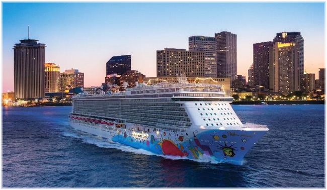 Norwegian Breakaway in this image at New Orleans