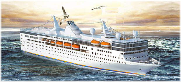 The Brilliant of the Seas (Rendering courtesy of Diamond Cruise International)