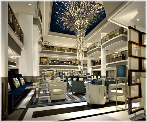 Britannia, the P&O flagship: the Atrium (Courtesy P&O Cruises)