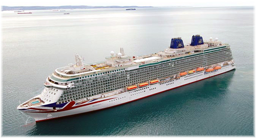 Britannia during sea trials on December 7, 2014. Photo P&O Cruises