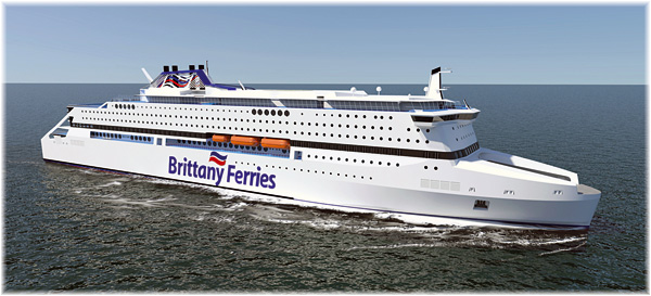 The Brittany Ferries' new cruise-ferry will be oil-powered (Courtesy of Brittany Ferries)