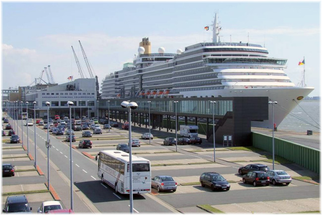 The terminal at the Columbus Cruise Center (CCCB) in Bremerhaven