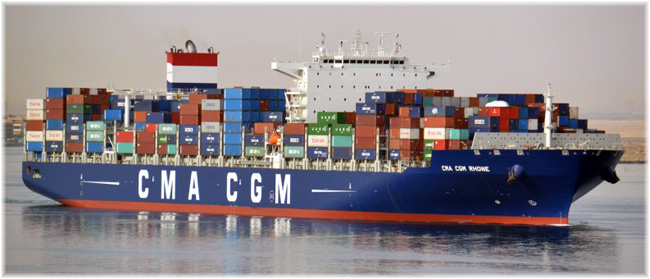 The 10-passenger CMA CGM Rhone is one of four ships that now carry travellers to and from Australia in the Nemo Line service (Photo credit Shipspotting.com)