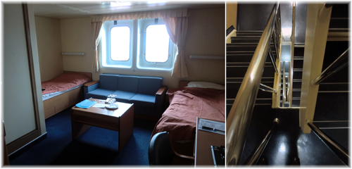 CMA CGM Chopin - Owners & Stairway