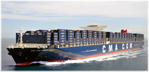 France's CMA CGM Marco Polo - A massive container ship of 16,020 TEUs - Photo courtesy of CMA CGM