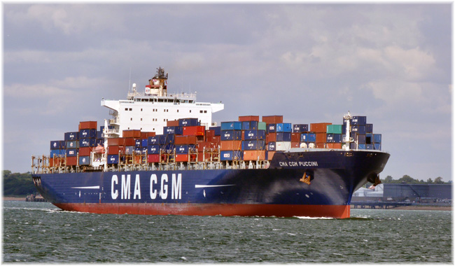The CMA CGM Puccini (Courtesy Kelvin Hughes)