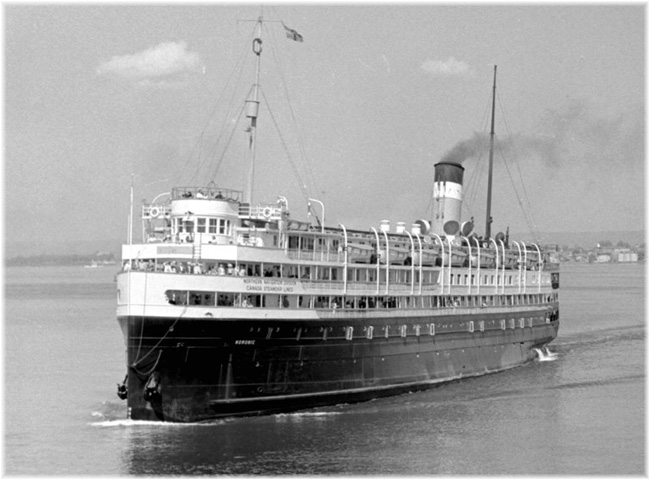 The Canada Steamship Lines' Noronic, which traded from 1914 to 1949
