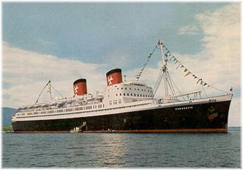 The first Hanseatic, a Transatlantic liner, was formerly Canadian Pacific's Empress of Scotland