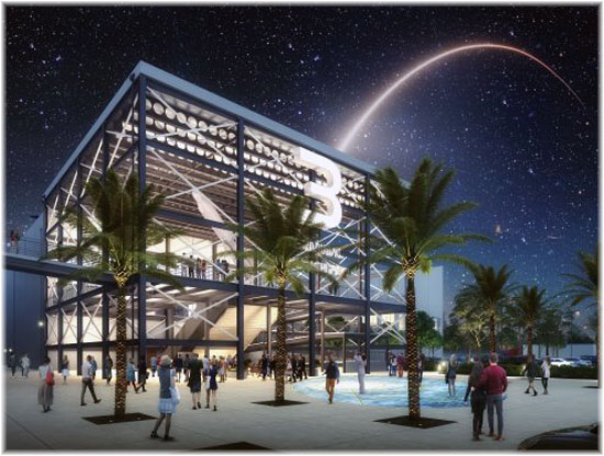 Artist's rendering of Port Canaveral's new Cruise Terminal 3, slated for completion in June 2020 (Courtesy Canaveral Port Authority)