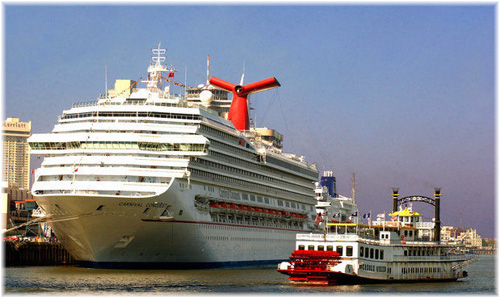 Carnival Conquest in this image at New Orleans