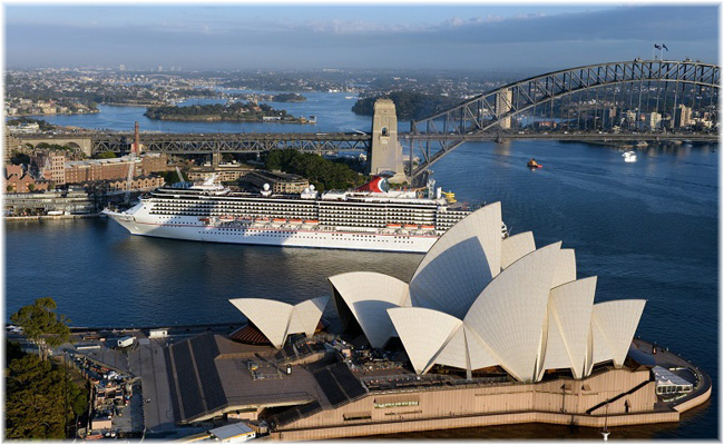 Carnival Legend at Sydney - April 2018 (Photo credit:  James Morgan)
