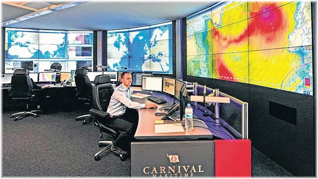 In October 2015, Carnival Corp & plc opened its first Fleet Operations Centre in Hamburg (Courtesy Carnival Corp & plc)