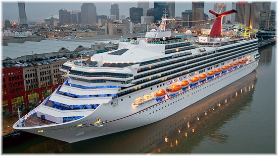 Carnival Sunshine, formerly known as the Carnival Destiny in New Orleans