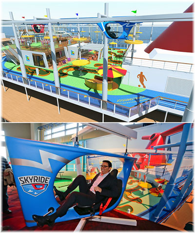 Carnival Vista: the  Skyride