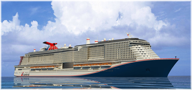 Carnival Cruise Line's XL vessel (Rendering courtesy of Carnival Cruise Line)