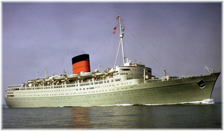 "The Caronia, otherwise known as the ""Green Goddess"", in 1948"