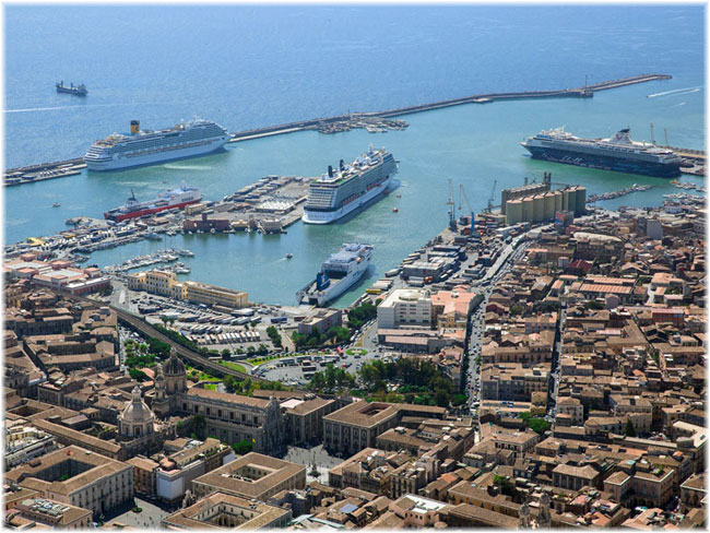 The port of Catania