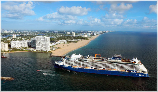 Celebrity Edge entering at Port Everglades