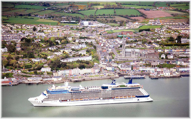 The Celebrity Eclipse at Cork, Ireland (Courtesy Port of Cork)