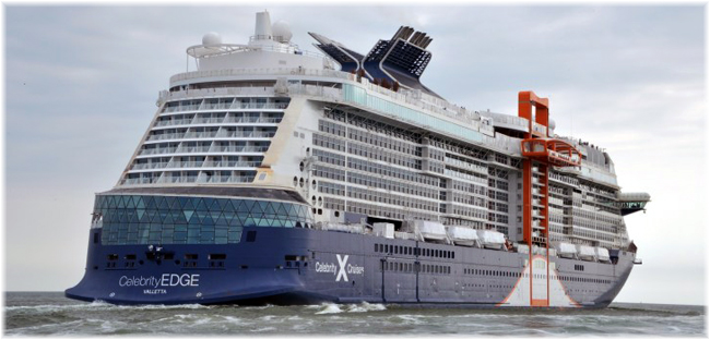 Celebrity Edge at sea trials (Courtesy Chantiers de l'Atlantique)