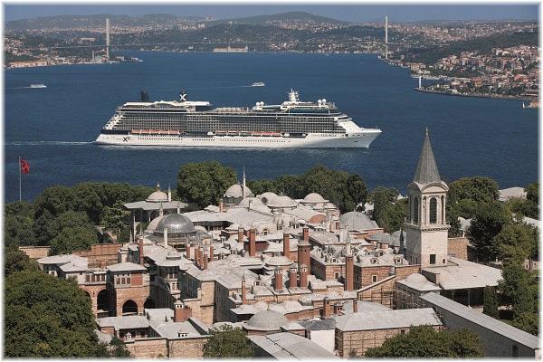 The Celebrity Equinox at Istanbul (Photo credit Tura Turizm, Istanbul, Turkey)