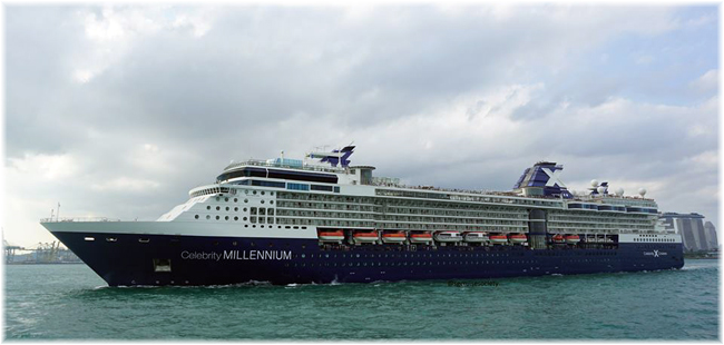 Celebrity Millennium at Singapore (Photo credit Singapore Cruise Society at Facebook)