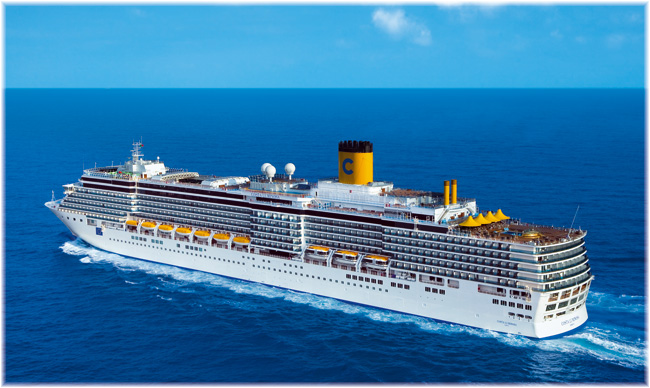 Costa luminosa sets sail on her round the world cruise for Round the world cruise 2016