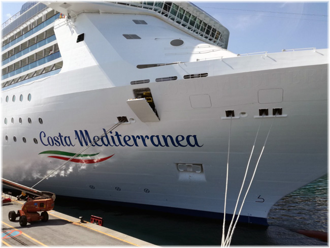 New Livery For   Costa Cruises. Costa Mediterranea  The First To Feature The New Graphic Design
