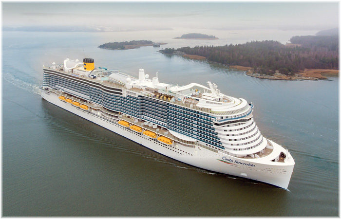 Costa Smeralda at sea trials (November 2019, courtesy of Costa Cruises)