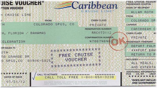Free Cruise Voucher - Caribbean Cruise Line (Copyright CBS News)